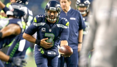 SEATTLE, WA - DECEMBER 04: Quarterback Russell Wilson #3 of the Seattle Seahawks warms up before a game against the Carolina Panthers at CenturyLink Field on December 4, 2016 in Seattle, Washington. (Photo by Otto Greule Jr/Getty Images)